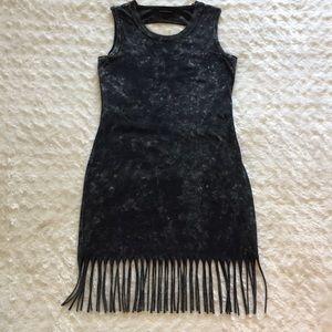 Rock & Republic Boho Acid Washed Fringe Dress